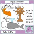 Phonics Clip Art: Consonant Digraph wh clipart