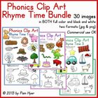 Phonics Clip Art:  Rhyme Time BUNDLE