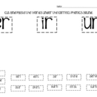 Phonics Cut and Paste - r-controlled vowels
