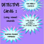 Phonics Detective Cards 1 Long Vowel Sounds
