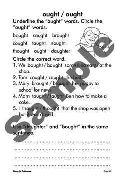 Phonics Fun 3: Set 21 - 'ought/aught' Sounds