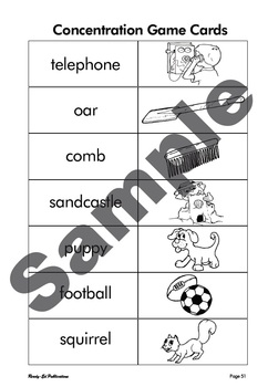 Phonics Fun 3: Set 25 - Concentration Game Cards