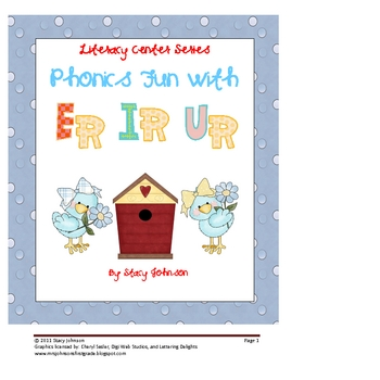 Phonics Fun With ER, IR, and UR