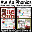 Phonics Game For au and aw Sound