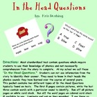 Phonics:  In the Head Questions