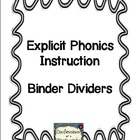 Phonics Lesson Binder Organization