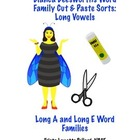 Phonics: Long Vowel Cut & Paste Sorts (Long A & Long E)