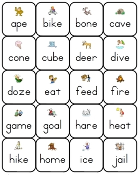 Phonics Lotto: Long Vowels