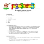 Phonics:  Newspaper Scavenger Hunt (Spanish and English)
