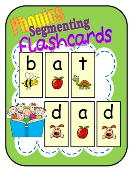"FREE Phonics Segmenting Flashcards / Short ""A"" (RF.K.2d)"