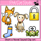 Phonics Short O Vowel Sound Clip Art Set - Personal or Com