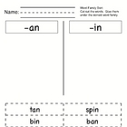 Phonics: Short Vowel Cut &amp; Paste Sorts