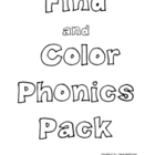 Phonics Sounds Pack - [Find and Color] & [Find and Paint!]