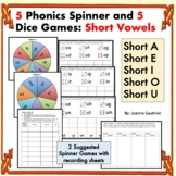 Phonics Spinner Games - Short Vowels