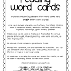 Phonics Word Cards for Reading and Sorting