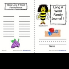 Phonics: Word Family Journals--Long Vowels (A &amp; E)