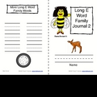 Phonics: Word Family Journals--Long Vowels (E & I)