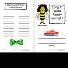 Phonics: Word Family Journals--Long Vowels (O &amp; U)