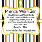 Phonics Word Sorts-Beginning, Middle, and End
