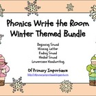 Phonics Write the Room Winter Themed Bundle