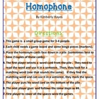 Phonics/Guided Reading Activities: Homophone Bingo
