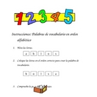 Phonics/Spelling:  ABC Order Vocabulary Words (English and
