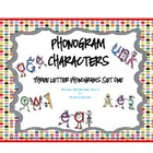 Phonogram Characters (3letters) Word Chunks (Set One)