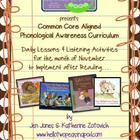 Phonological Awareness Curriculum: Text Based &amp; Common Cor