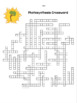 Photosynthesis Crossword Puzzle