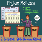 Phylum Mollusca (Clam, Mollusk) Jeopardy Review Game