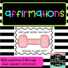 Physical Education: Affirmations...How to Build Your Belie