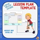 Physical Education - PE Large Group Game Template
