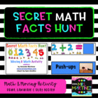Physical Education: Secret Math Facts Hunt (Moving & Math