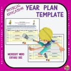 Physical Education Year Plan Template
