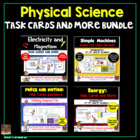 Physical Science Task Cards Pack: Energy, Simple Machines,