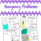 Physics - PowerPoint of 4 Buoyancy Problems w/ Buoyant For
