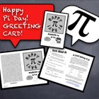 Pi Day - A Greeting Card to Celebrate Pi Day With Your Students!