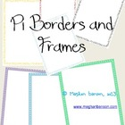 Pi Day Math Borders and Frames for Commercial or Personal Use