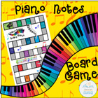 Piano Notes Board Game