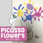 Picasso Flowers - Torn paper collage Art Lesson and Introd