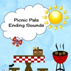 Picnic Pals Ending Sounds Literacy Center