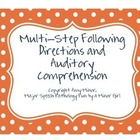 Speech Therapy: Picture Auditory Comprehension and Followi