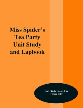 Picture Book Unit Study: Miss Spider