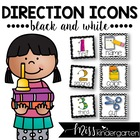 Picture Direction Icons {black and white background}