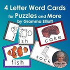 4 Letter Picture Word Puzzles Freebie by Gramma Elliott