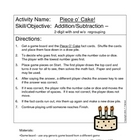 Piece O' Cake - 2-digit addition and subtraction game