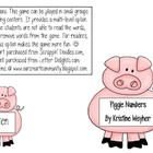 Piggie Numbers... matching numbers, sets and number words