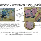 Piggy Bank Calendar Companion