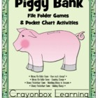 Piggy Bank Money File Folder Games & Activities