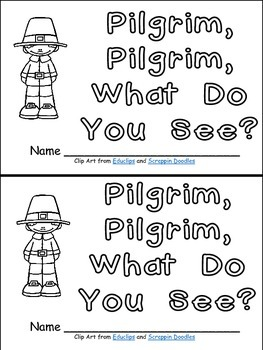 Pilgrim, Pilgrim- Thanksgiving Kindergarten Emergent Reader book